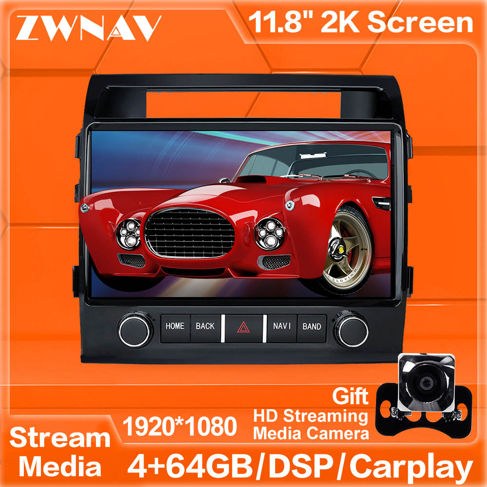 MAX-PAD Android 9.0 Car Multimedia Player Streaming Media Unit For TOYOTA LAND CRUISER LC200 2008-2019 Radio Stereo Touch Screen