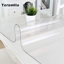 Table-Cloth Glass-Mat Pvc Transparent Thick Waterproof Kitchen Teramila Soft