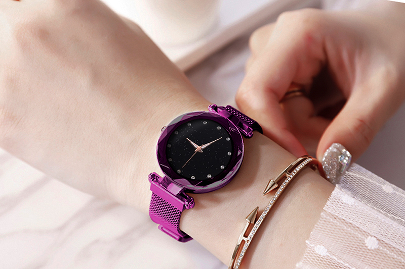 H3cb3e33f02924106bc7c43dc0d22dce1A Luxury Women Watches Ladies Magnetic Starry Sky