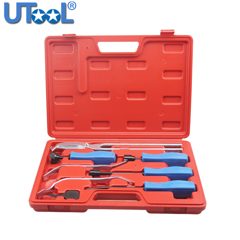 8pc Brake Drum Pliers Brake Spring Installer Removal Retaining Adjust Tools Set
