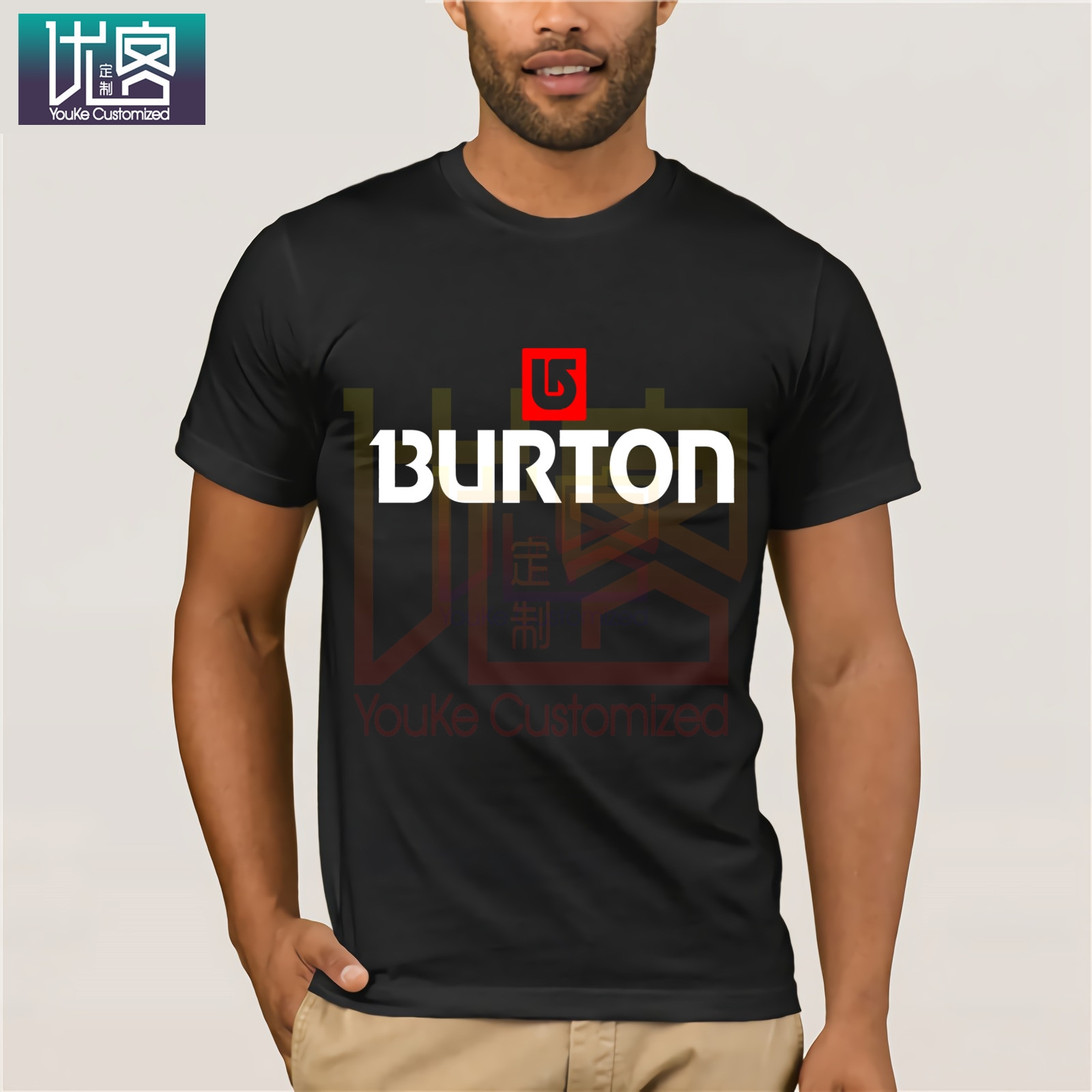 Burton Arrow Logo Snowboards T Shirt Cartoon Tee Shirt Homme Top Tees Men Cool 2019 Shirt Tops Summer Tees Cotton O Neck T-Shirt