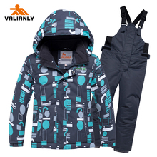 2019 Kids Boys Winter Ski Suit Children Skiing Jacket Pants Waterproof Windproof Kids Ski Sets 2 Pieces Snowboard Winter Clothes dollplus 2018 boys outdoor ski set winter waterproof windproof warm jacket kids ski snowboard sport suit for boys clothes