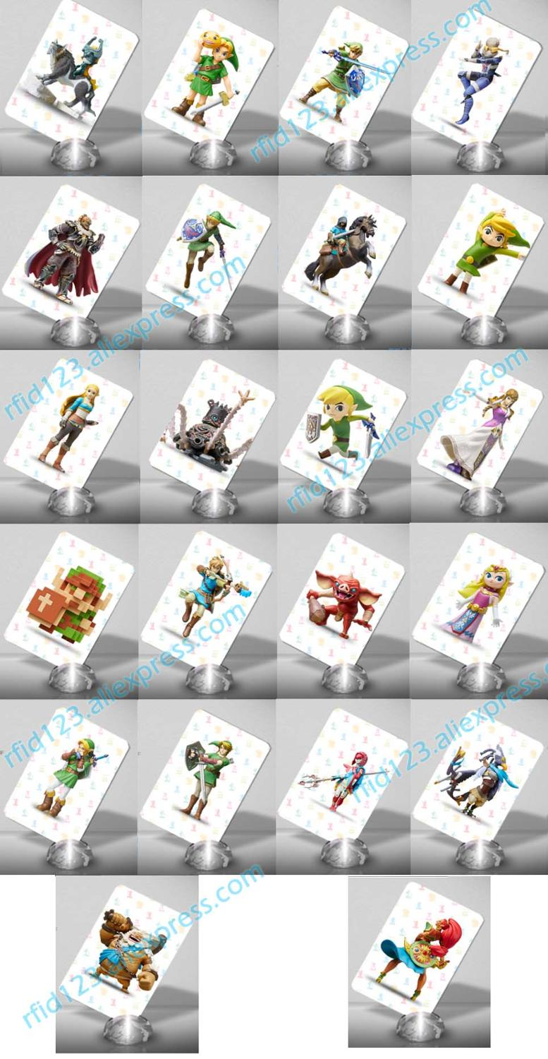 Image 2 - Amiibo Card for The Legend of Zelda Breath of the Wild Full Set 24PCS-in Access Control Cards from Security & Protection