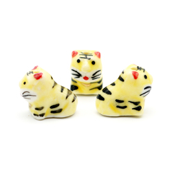 10pcs/lot 18*16mm Cute Tiger Shape Ceramic Beads Porcelain Beads Loose Spacer Beads Handmade DIY Jewelry Making Wholesale