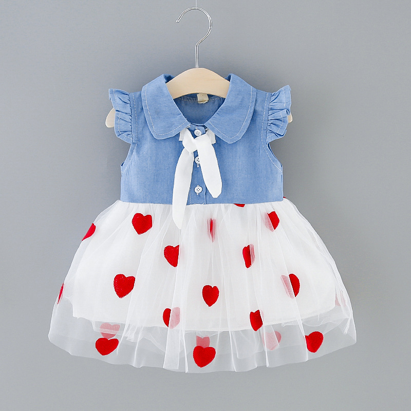 Summer Baby Girls Dresses for Baby Sleeveless Princess Dress Infant 1st Year Birthday Party Dress Newborn Clothes <font><b>6</b></font> <font><b>12</b></font> <font><b>24</b></font> Month image