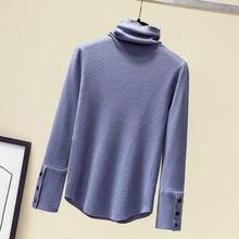 2020 autumn winter women irregular knitted turtleneck sweaters