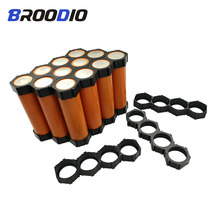 10PCS 18650 Lithium Battery Holder Misalignment Fixed Bracket Flat Head Assembly Group Module Battery Pack Splicing Bracket Case cheap Broodio battery storage box 18650 battery holder battary box battary holder 18650 Case battery box 18650 boxing for 18650