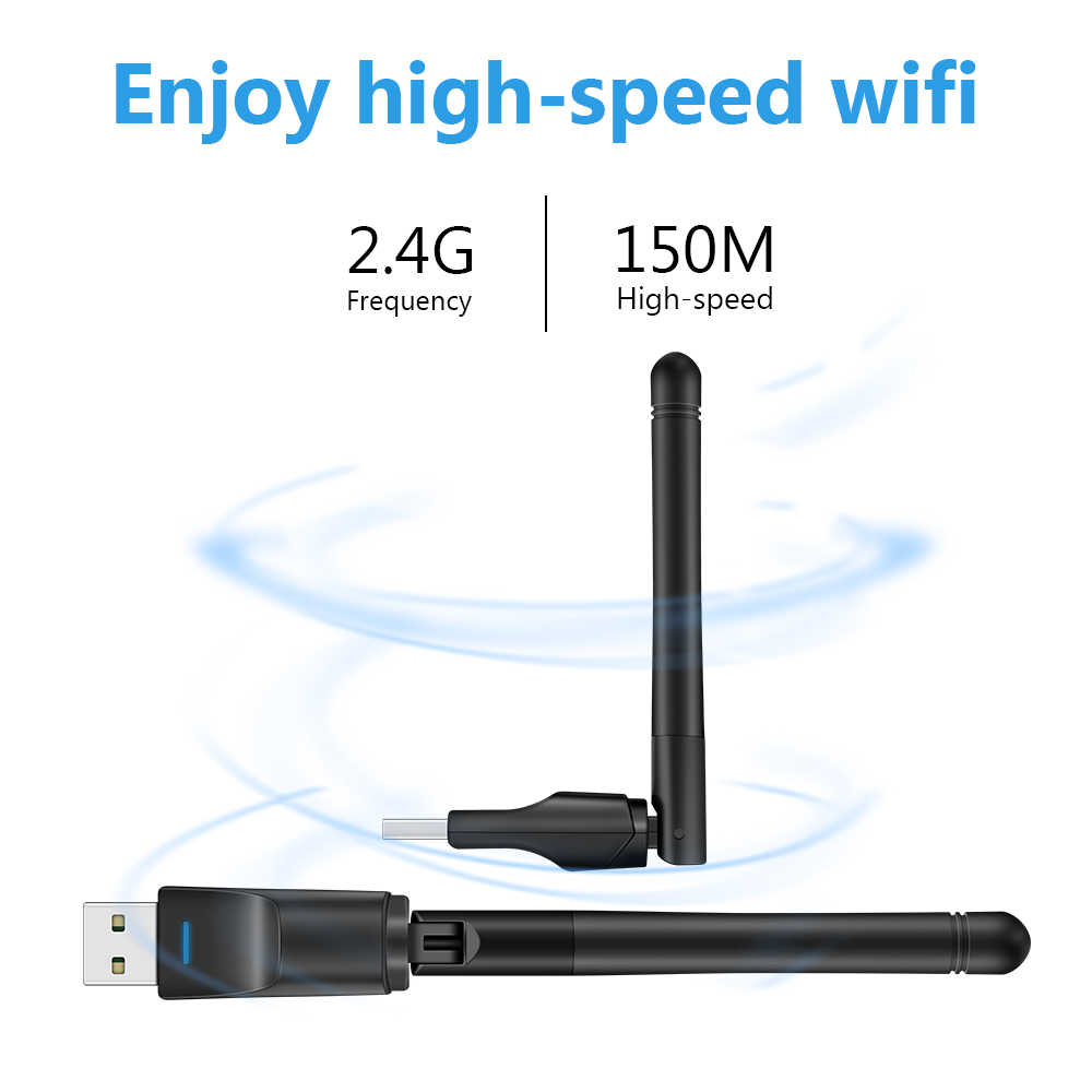 USB Wifi Adapter 150Mbps 2,4 ghz Antenne USB 802.11n/g/b Ethernet Wi-fi dongle usb lan Wireless netzwerk Karte PC wifi empfänger