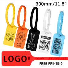 100 Custom Logo Tag Zip Ties Off Labels White Plastic Security Garment Clothes Shoe Brand Logo Hang Label Tags Seals 300mm/11.8
