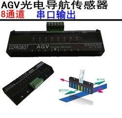 AGV photoelectric navigation sensor 8-bit serial output line monitoring sensor supports Modbus protocol