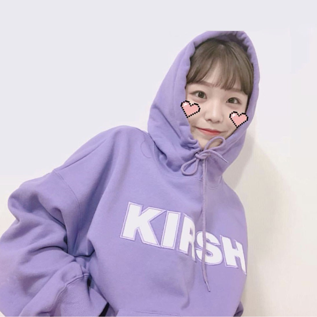 A19 # [Official Figure] South Korea Popular Brand Kirsh Harajuku Cherry Embroidered Looped Pile Hoodie Hoodie Loose Tops