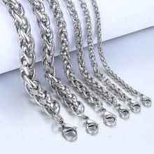 Модный браслет в стиле панк 3 6 мм звеньевая цепочка из нержавеющей