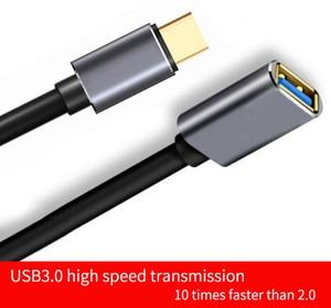 Image 5 - USB C Otg Datakabel Metalen Type C Male Naar Usb 3.0 Female Extension Converter Voor Samsung S10 Voor Xiaomi mi8 Huawei Mate 20