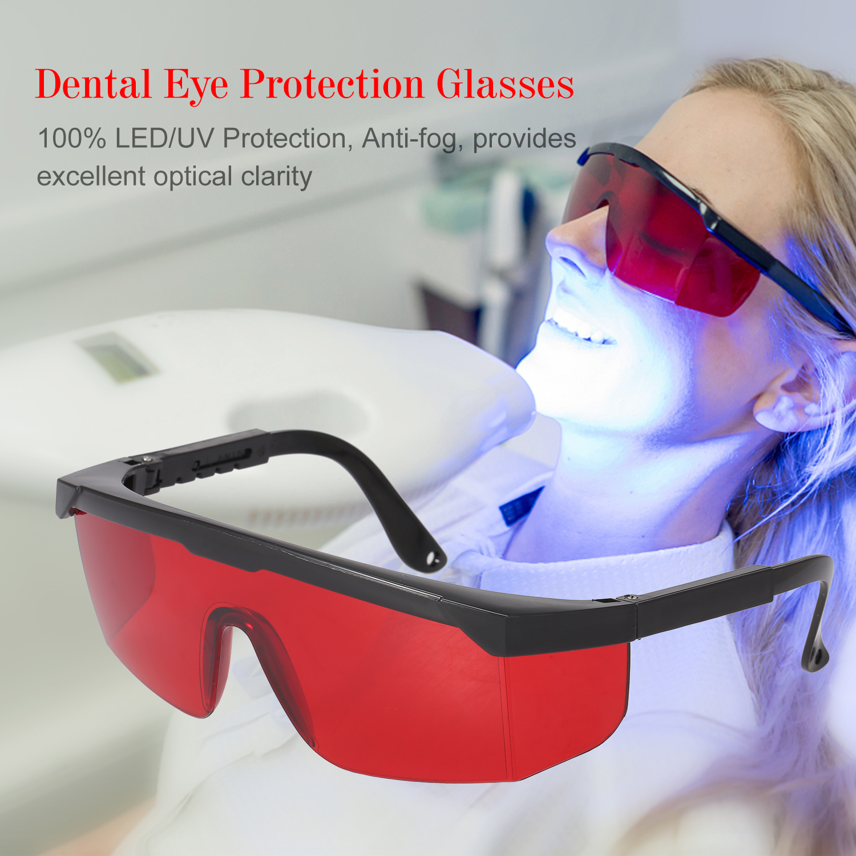Dental Protective Eye Goggles Safety Anti-fog Glasses Frame Whitening Lamp UV US