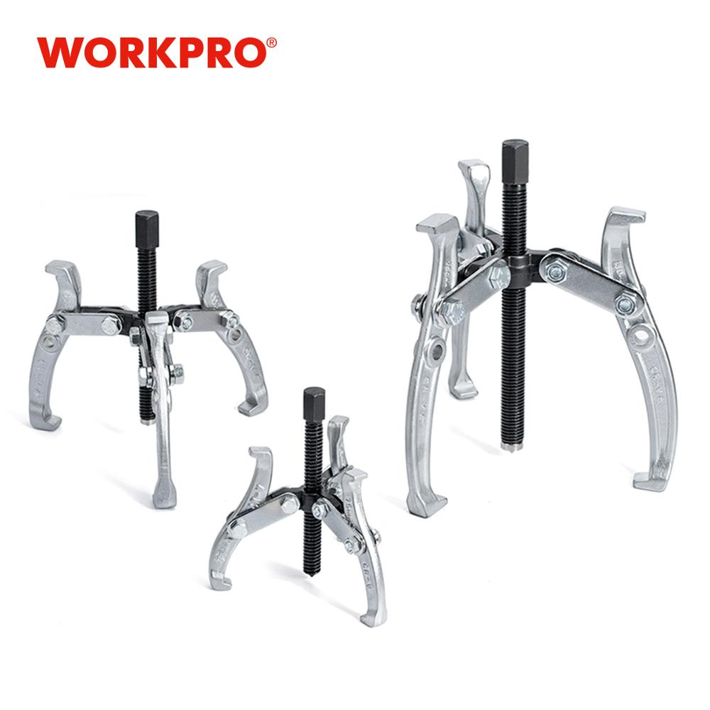 "WORKPRO 3PC 40CR Gear Puller Set Mechanic Repairing Tool Set 3 ""4"" 6 ""Gear Puller Tool Kits"