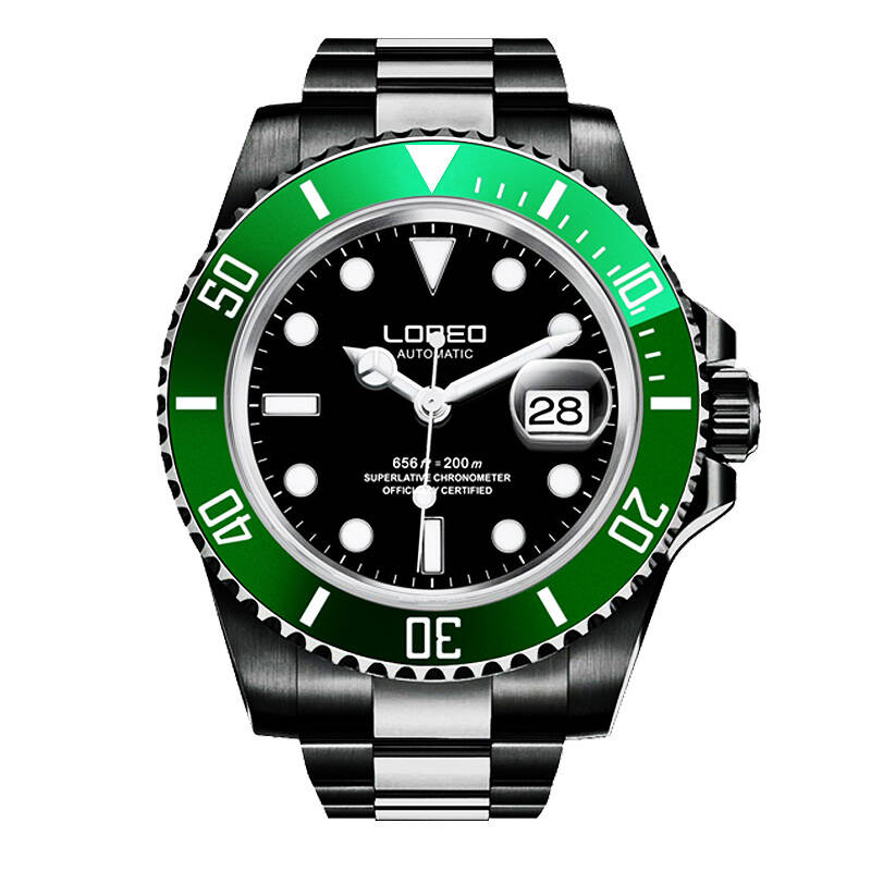 LOREO 9201 Germany 200M archetype of diver's watch automatic self wind scratch luminous waterproof calendar fashion business|Sports Watches| |  - title=
