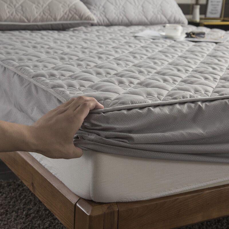 Thicken Funda de colchón acolchada King Queen sábana ajustable para cama colchón antibacterias almohadilla de cama Permeable al aire