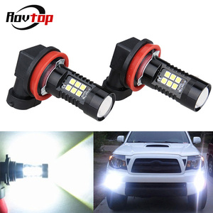 Rovtop 2PCS H8 H11 HB4 9006 H10 H16 LED Fog Lights Bulb 21W 3030SMD 800LM 6000K White Car Driving Running Lamp Auto LED Light Z2(China)