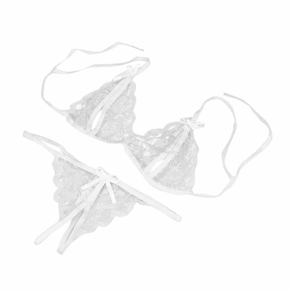 Quần lót nữ Bộ Nữ Ren Quần Lót Ren nữ áo ngực và quần Bộ Chữ G cho nữ Áo Lót conjunto lenceria