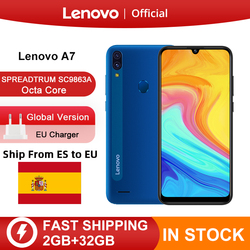 Global Verdion Lenovo A7 SPREADTRUM SC9863A Octa Core 2GB 32GB 6 inch HD Display 4000mAh Rear 13MP Front 5MP Camera Cellphone