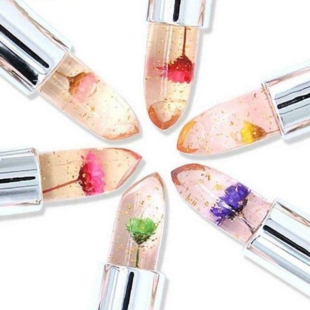 Flower Lipstick Color Jelly Transparent Temperature Change matte lipstick set 2