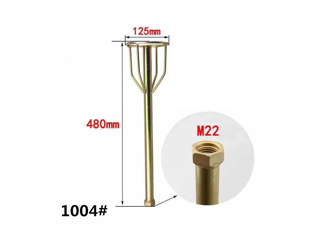 Gold Plated Metal Mixer  Stir Bar,Paint/Concrete Mixer Paddle Axle,Hexagon Drill/Square Hammer/Screw,Multiple Style Selection