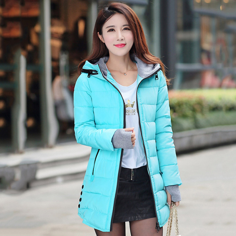 2018 Winter Jacket Women Plus Size Womens Jackets And Coats Female Cotton Padded Long Parka Korean Hooded Chaqueta Muje[]// 4