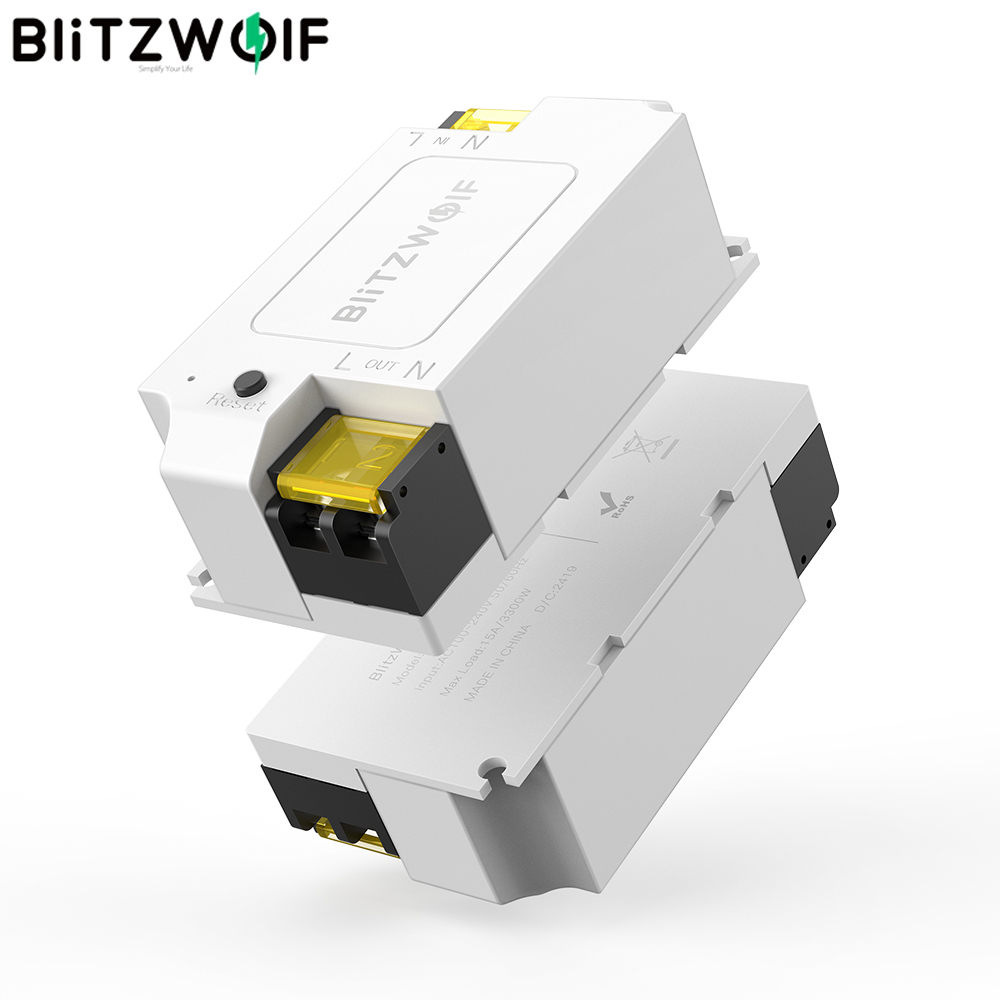 BlitzWolf BW-SS1 3300W 15A Basic DIY WIFI Wireless Switch Smart Home APP Control Timer Module Socket Work With Google Home IFTTT
