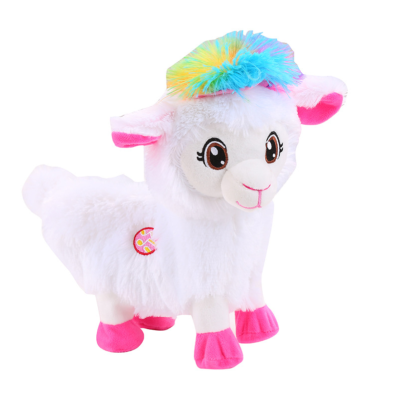 Robot Alpaca Electronic Sheep Plush Toys Walk Twist Ass Buttocks Toys Electric Dancing Pet Music Toys For Children Birthday Gift