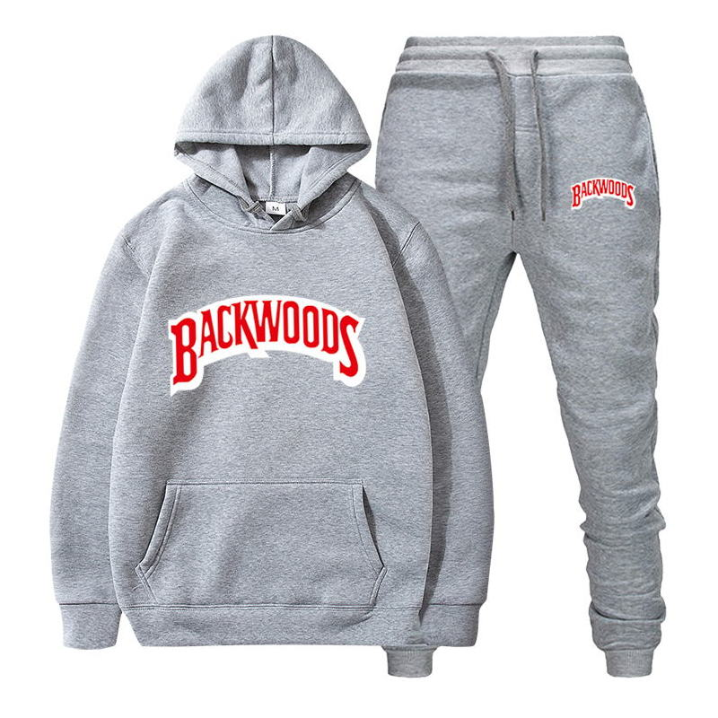 fashion brand Backwoods Men's Set Fleece Hoodie Pant Thick Warm Tracksuit Sportswear Hooded Track Suits Male Sweatsuit Tracksuit 6
