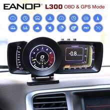 Eanop Hud OBD2 + Gps Head Up Digitale Lcd-scherm Auto Scanner Boordcomputer Accelorator Turbo Brake Test Voor Universele auto L300