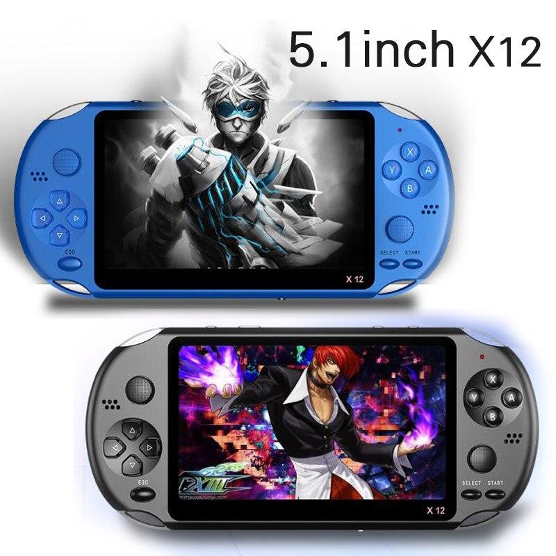 X12 Handheld Spielkonsole 8G 32/64/128 Bit HD Farbe LCD Bildschirm 3000 + Spiele Kid video Retro Tragbare Handheld-Spiel-Spieler auf TV