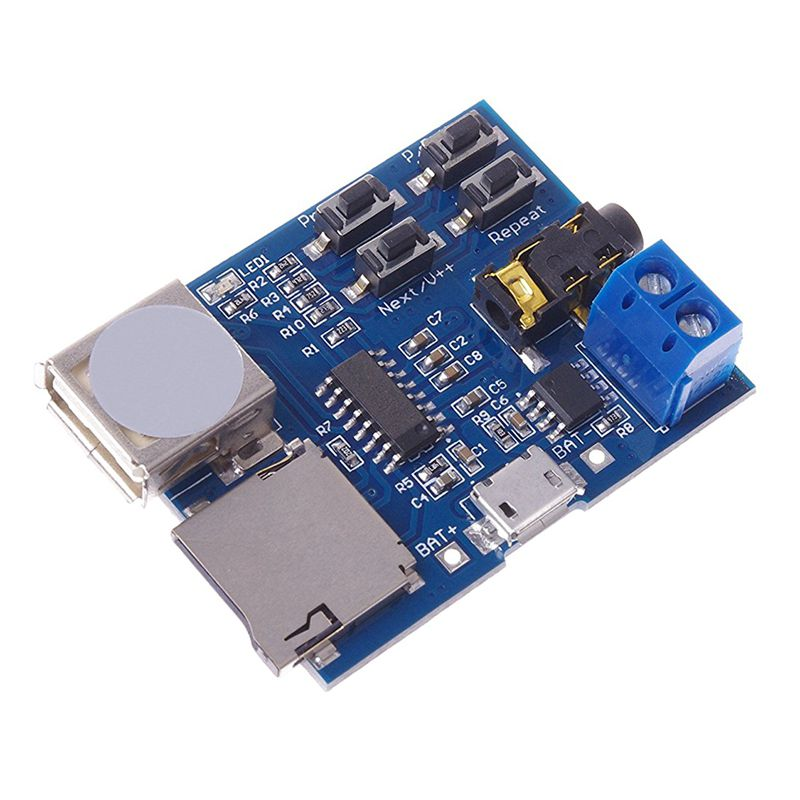 Hot 3C-Mp3 Lossless Decoders Decoding Power Amplifier Mp3 Player Audio Module Mp3 Decoder Board Support TF Card USB