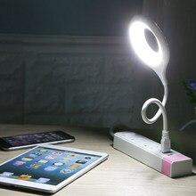Lampa stołowa gniazdo USB swobodnie składane przenośne światło LED brak migotania miękkie światło oszczędzanie energii ochrona oczu z dala od krótkowzroczności