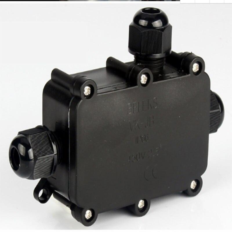 BE-TOOL caja de conexiones impermeable para exteriores negro conector de cable IP68 caja de conexiones para iluminaci/ón exterior y cableado externo 2 unidades