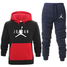 2019 Autumn winter Sporting Suits Men Hip Hop Hooded Hoodies + Pants Tracksuits Autumn Casual Mens Sportswear Sets(China)