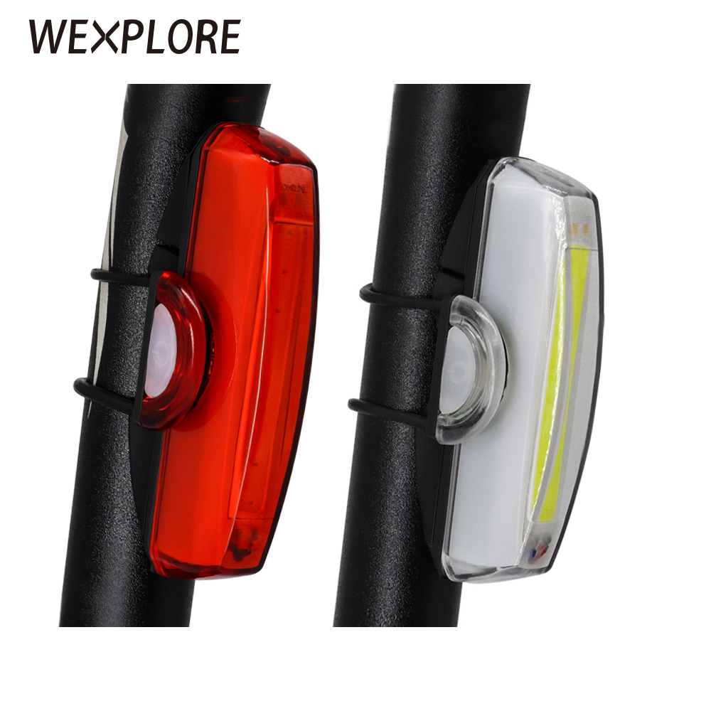 Bicycle Rear Light USB Rechargeable LED Lamp Bike Tail Light Front Light Cycling Safety Light Front Rear Lights Set