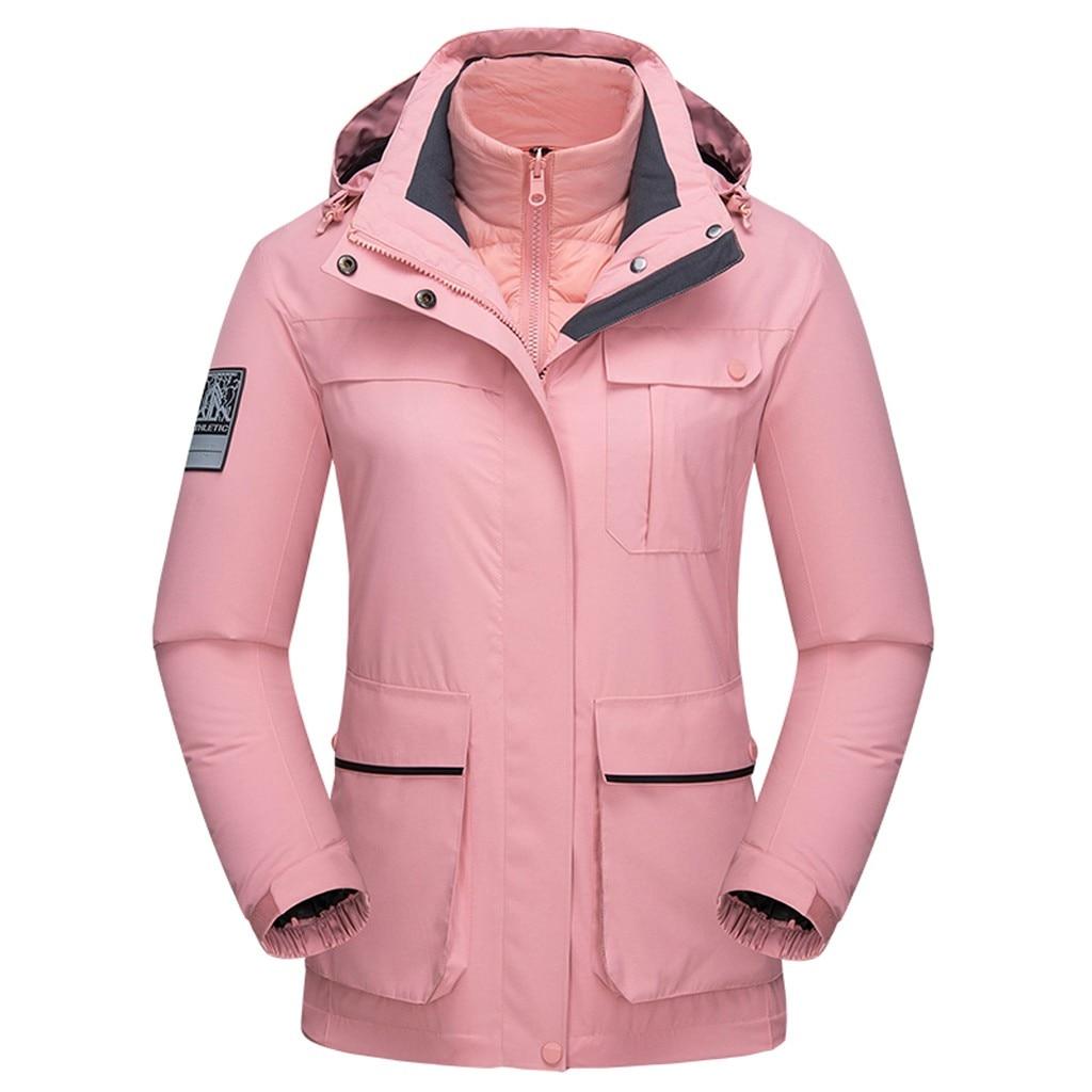 forro destacável jaqueta de esqui térmica esporte
