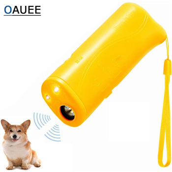 Pet Dog Repeller Anti Barking Stop Bark Training Device Trainer LED Ultrasonic 3 in 1 Anti Barking Ultrasonic Without Battery- 1