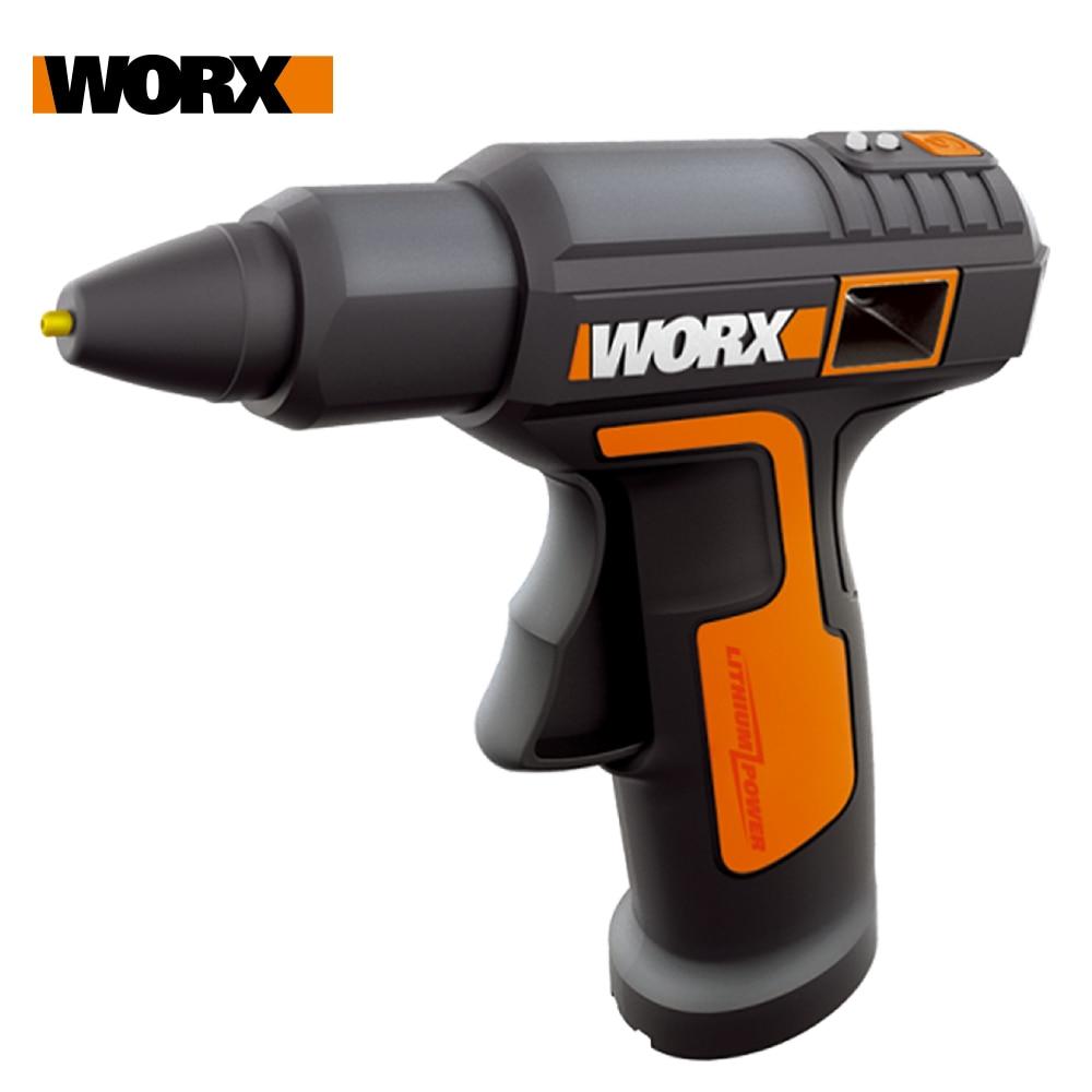 Worx 4v derreter pistola de cola quente wx890 pistola de cola elétrica recarregável ferramenta de reparo sem fio calor mini arma 7mm cola vara ferramenta do agregado familiar