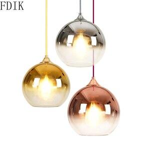 Скандинавский круглый стеклянный подвесной светильник s, современный дизайн, светодиодная Подвесная лампа для гостиной, кухни, винтажный д...