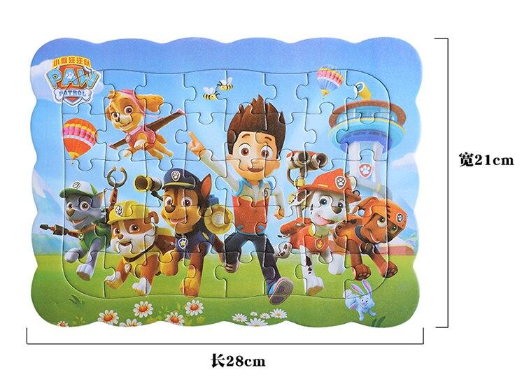 Деревянный Пазл «Щенячий патруль», детская игрушка, Мультяшные животные, деревянные головоломки, детская игрушка для раннего обучения, под...