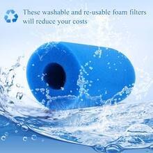 Пенопластовый фильтр для бассейна моющийся повторно используемый картридж для воды губчатые фильтры для очистки аксессуары для бассейна многоразовый инструмент для очистки