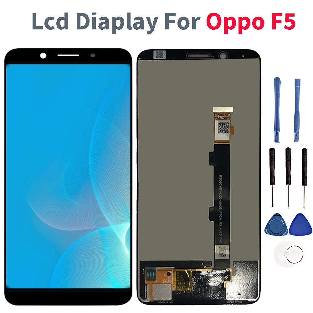 Lcd <font><b>DIsplay</b></font> For <font><b>Oppo</b></font> <font><b>F5</b></font> Full LCD <font><b>DIsplay</b></font> Touch Screen Digitizer Assembly For <font><b>Oppo</b></font> <font><b>F5</b></font> A73 A75 A75S CPH1727 CPH1723 image