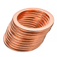 568Pcs 30 Sizes M5 M28 Solid Copper Washers Sump Plug Washer Assorted Kit Copper Sealing Crush Flat Ring Washer Gasket with Box