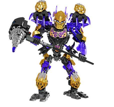 Bevle xsz 612-3 bioquímico guerreiro bioniclemask de luz bionicle onua terak bloco de construção compatível 71309 brinquedos