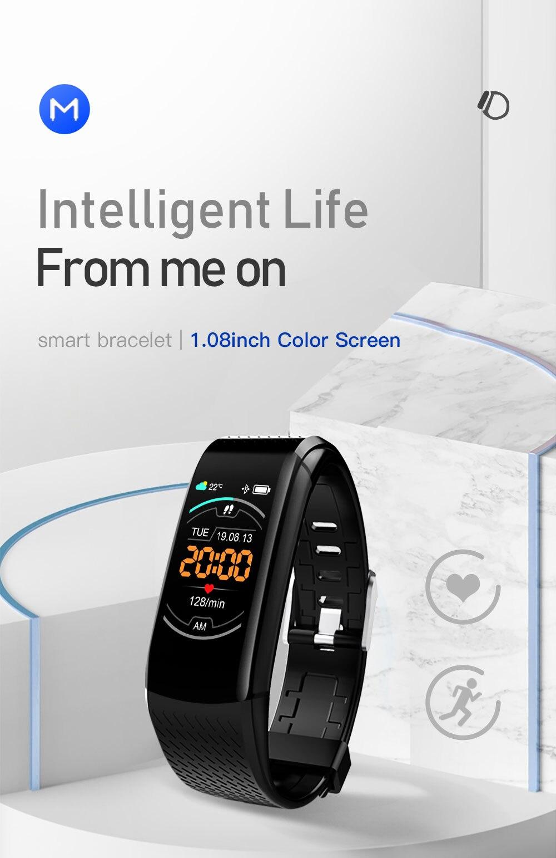 H3cb63ed1752146e1ba7740b14a7f17c4g Smart Fitness Bracelet Blood Pressure Measurement Fitness Tracker Waterproof Smart Band Watch Heart Rate Tracker For Women Men