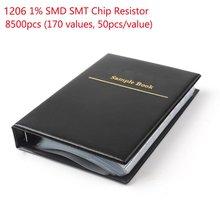 1 set 1206 smd resistor sample book 170values 50 pcs 8500 pcs 1% 0ohm  chip resistor kit assortment 100pcs 1206 510k 510k ohm 1% smd resistor
