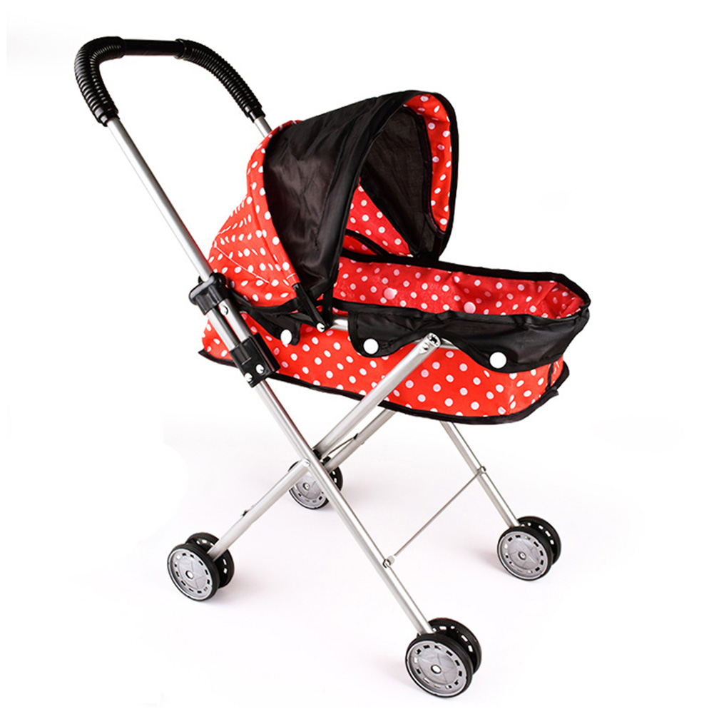 Doll Stroller   Doll Trolley Toy Simulated Stroller For Indoor Outdoor Use