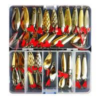 Hot Brilliant Metal Jig  Spoon Fishing Lure Set 10/20/25/35 PCS Sequin Kit Bait Fishing Tackle Wobblers Pesca Isca Artificial